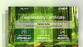 Brambles' sustainability certificates help communicate the environmental benefits in our customers'