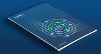 A photograph of Bramble's 2020 Annual Report on a blue colour background