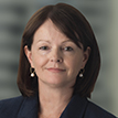A portrait photograph of Brambles' Chief Financial Officer Nessa O'Sullivan