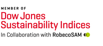 An image of the Dow Jones Sustainability World Indices logo