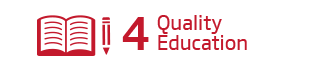 An image of the 4th Sustainability Goal, 'Quality Education'