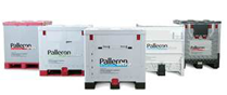 An image of 5 Pallecon containers on white background